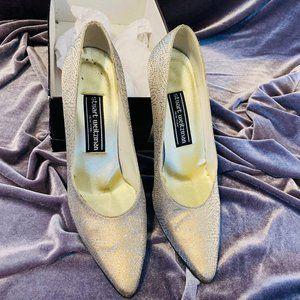 Stuart Weitzman Gold Studded Heels